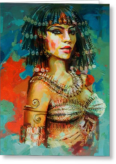 Egyptian Culture 2 Greeting Card by Maryam Mughal