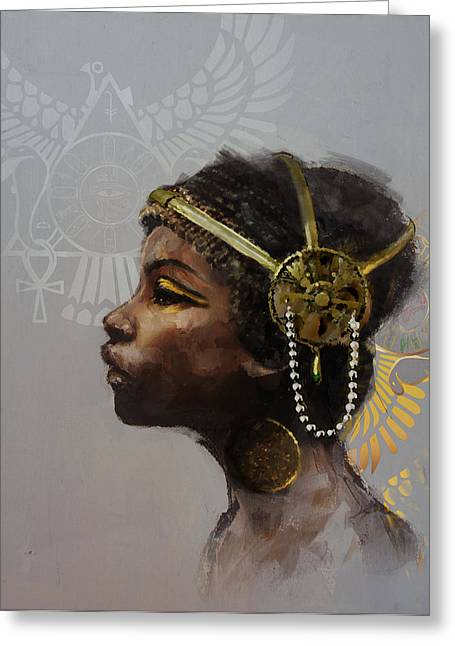 Pharaoh Greeting Cards - Egyptian Culture 20 Greeting Card by Maryam Mughal
