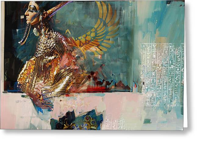 Pyramids Greeting Cards - Egyptian Culture 22  Greeting Card by Maryam Mughal