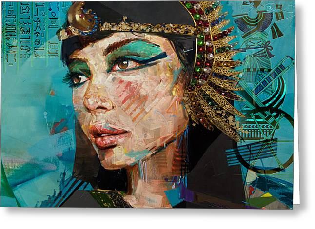 Pharaoh Greeting Cards - Egyptian Culture 25b Greeting Card by Mahnoor shah