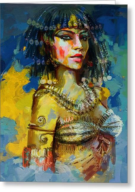 Egyptian Culture 2b Greeting Card by Maryam Mughal