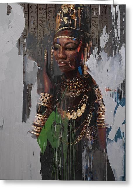 Egyptian Culture 31b Greeting Card by Maryam Mughal