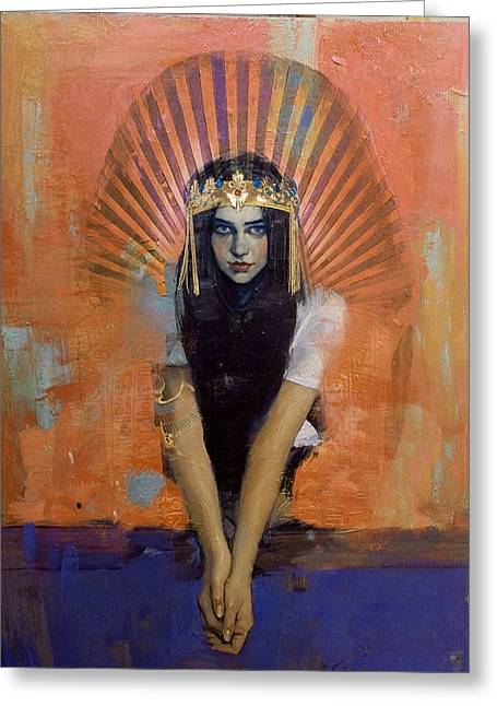 Egyptian Culture 32 Greeting Card by Maryam Mughal