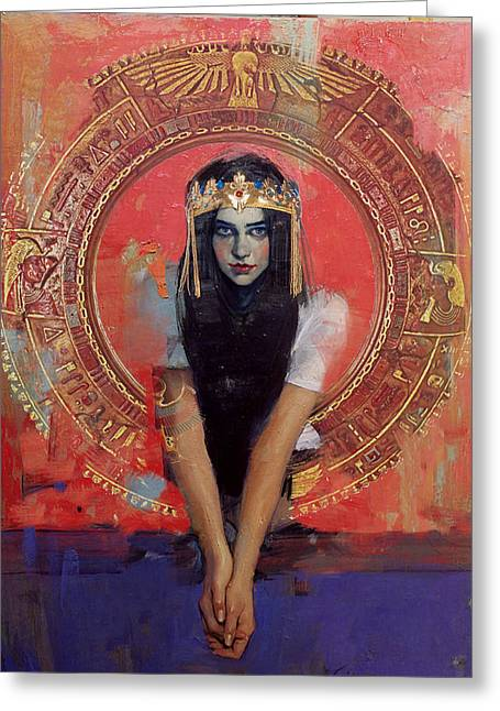 Giza Greeting Cards - Egyptian Culture 32b Greeting Card by Maryam Mughal