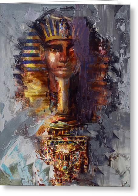 Pharaoh Greeting Cards - Egyptian Culture 37b Greeting Card by Maryam Mughal