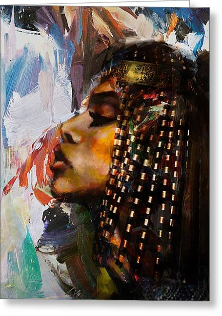Egyptian Culture 39 Greeting Card by Maryam Mughal