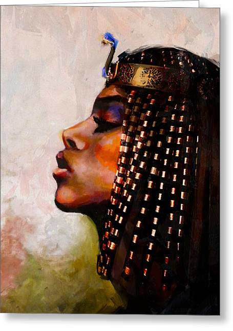 Pyramids Greeting Cards - Egyptian Culture 39b Greeting Card by Maryam Mughal