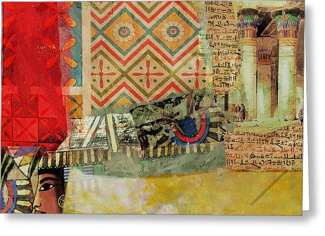 Pharaoh Greeting Cards - Egyptian Culture 48b Greeting Card by Corporate Art Task Force