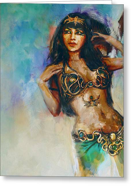 Pyramids Paintings Greeting Cards - Egyptian Culture 5 Greeting Card by Mahnoor Shah
