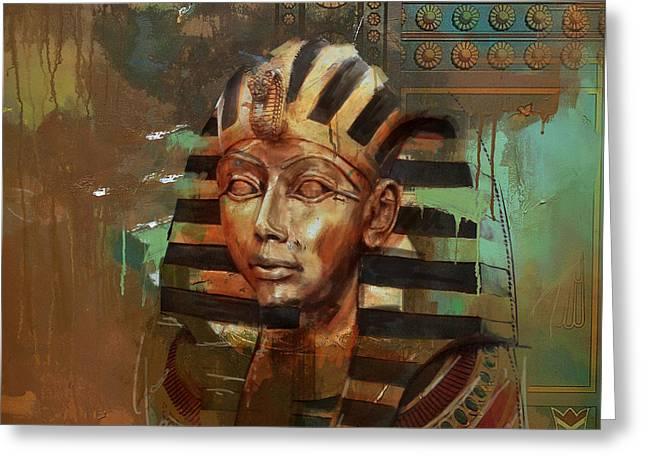 Pharaoh Greeting Cards - Egyptian Culture 52 Greeting Card by Corporate Art Task Force