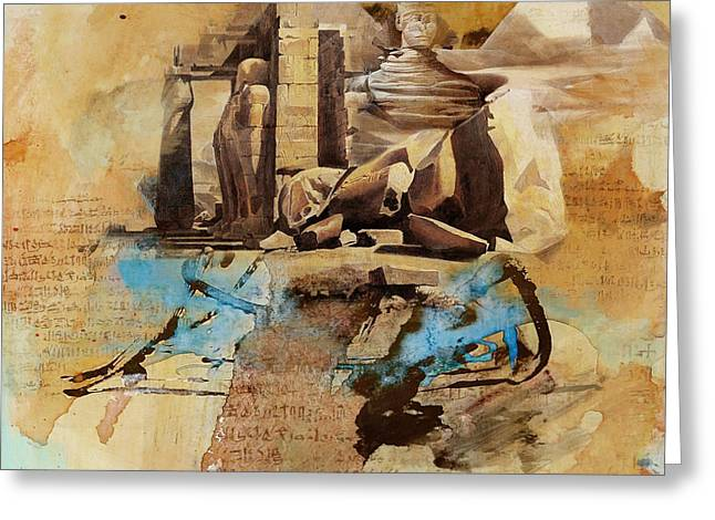 Pyramids Greeting Cards - Egyptian Culture 56 Greeting Card by Corporate Art Task Force