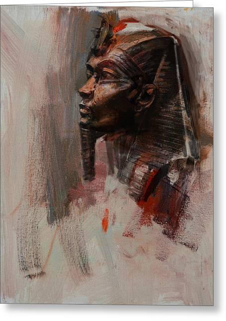 Pyramids Paintings Greeting Cards - Egyptian Culture 6b Greeting Card by Maryam Mughal