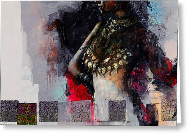 Egyptian Culture 80b Greeting Card by Maryam Mughal