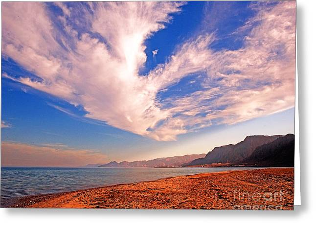 Sinai Photographs Greeting Cards - Egyptian Desert Coast and the Red Sea Greeting Card by Chris Smith