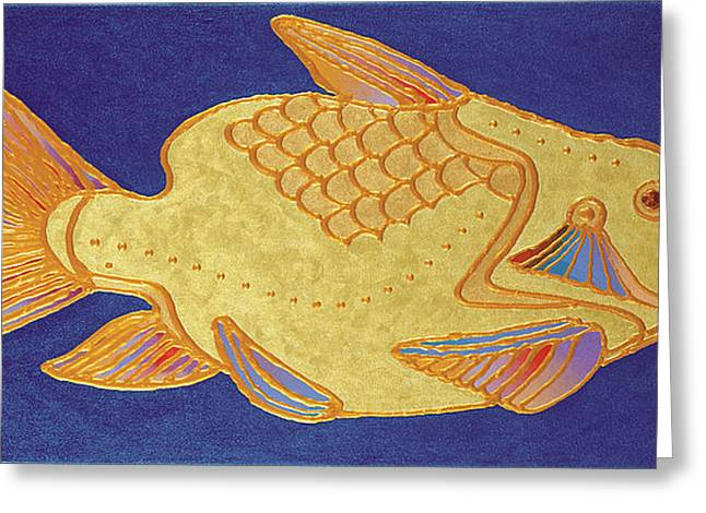 Egyptian Fish Greeting Card by Bob Coonts