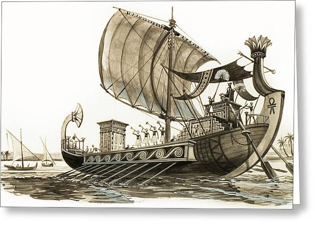 Egyptian Galley Greeting Card by Peter Jackson