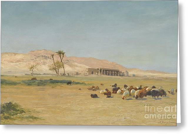 Egyptian Landscape Greeting Card by Celestial Images