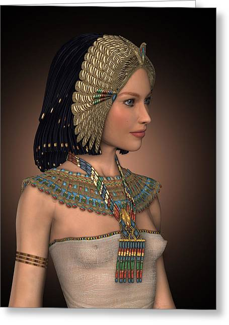 Egyptian Princess Greeting Card by David Griffith