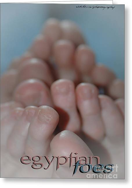 Vicki Greeting Cards - Egyptian Toes Greeting Card by Vicki Ferrari