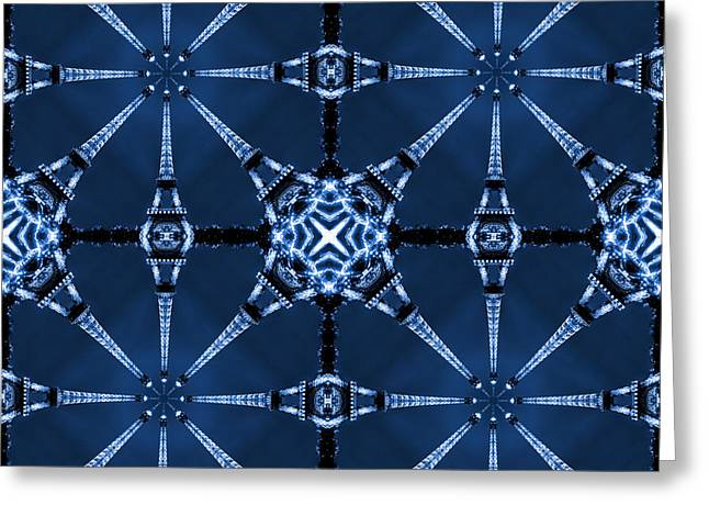 Abstract Pop Greeting Cards - Eiffel Art 22 Greeting Card by Mike McGlothlen