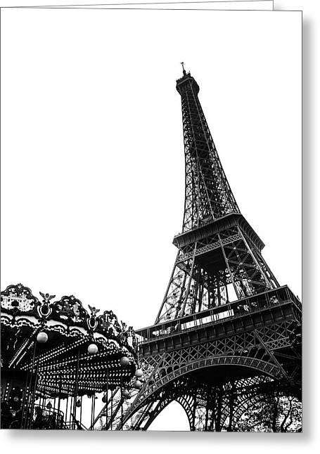 Eiffel Carousel Greeting Card by Georgia Fowler