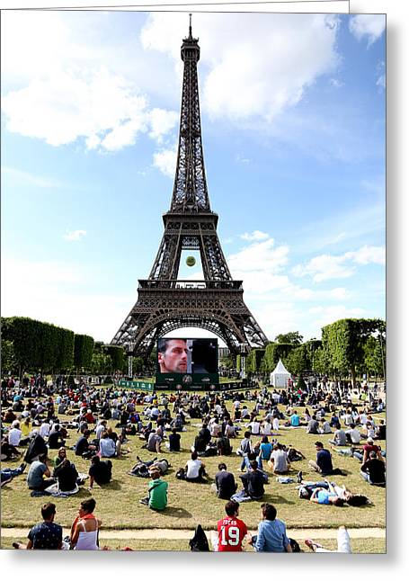 Eiffel Tower 14 Greeting Card by Andrew Fare