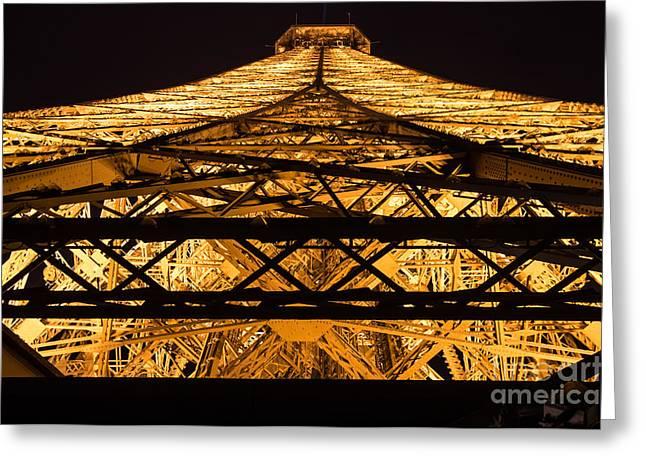 Black Top Greeting Cards - Eiffel Tower 2 Greeting Card by Marcin Rogozinski