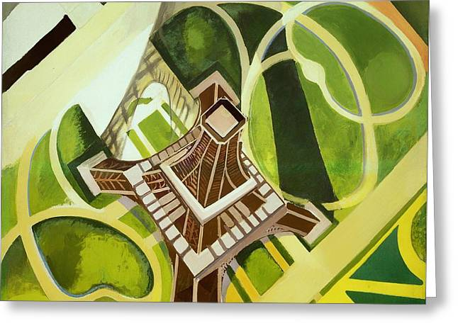 Champs Greeting Cards - Eiffel Tower and Jardin du Champ de Mars Greeting Card by Robert Delaunay