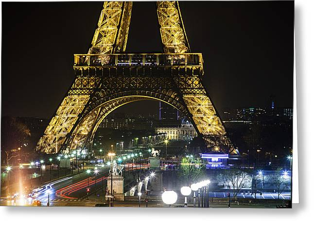 Eiffel Tower Greeting Card by Andrew Soundarajan