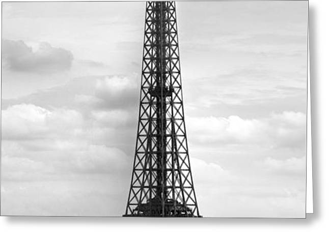 Eiffel Tower BLACK AND WHITE Greeting Card by Melanie Viola