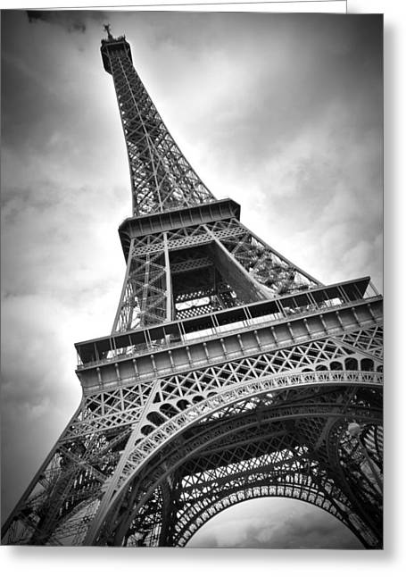 Vertical Digital Art Greeting Cards - Eiffel Tower DYNAMIC Greeting Card by Melanie Viola