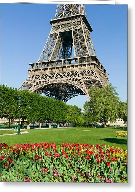 Champs Greeting Cards - Eiffel Tower in Spring II Greeting Card by Clarence Holmes