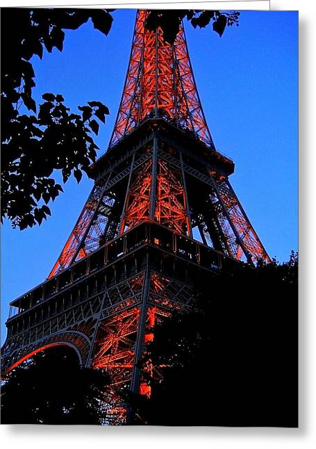 Eiffel Tower Greeting Card by Juergen Weiss