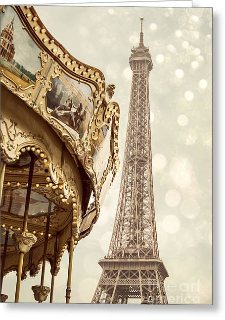 Amusements Greeting Cards - Eiffel Tower Greeting Card by Juli Scalzi