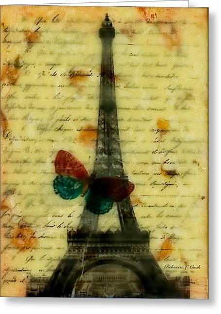 Eiffel Tower Memory Encaustic Greeting Card by Bellesouth Studio