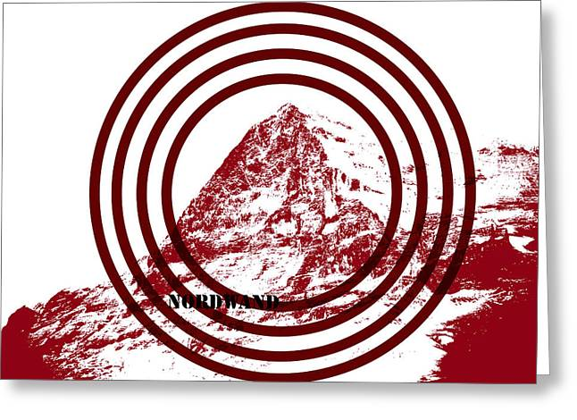 Overcoming Greeting Cards - Eiger Nordwand Greeting Card by Frank Tschakert