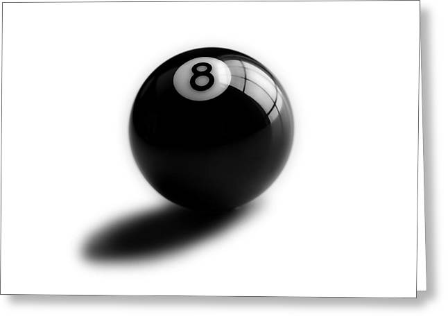 Pool Greeting Cards - Eight Ball Greeting Card by Mark Wagoner