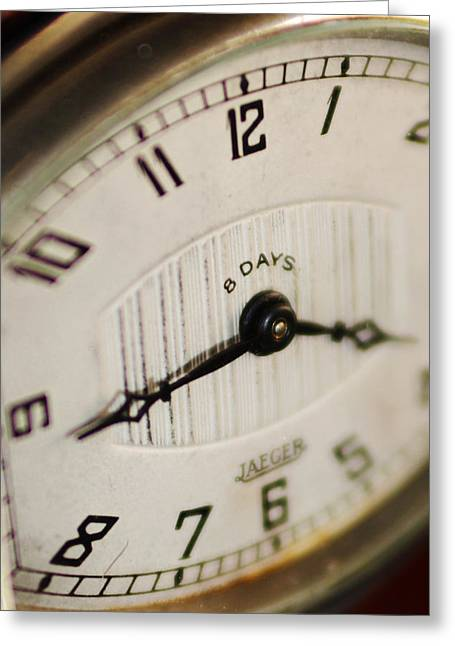 Eight Days A Week Clock Greeting Card by Jill Reger