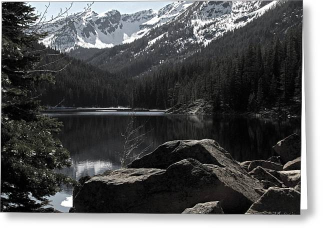8 Mile Greeting Cards - Eight Mile Lake No. 1 Greeting Card by Sandy Rubini