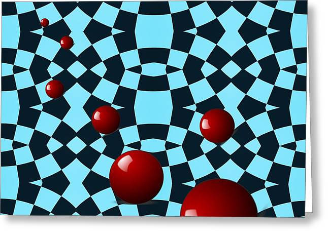 Office Space Digital Greeting Cards - Eight Red Balls Greeting Card by Sarah Loft