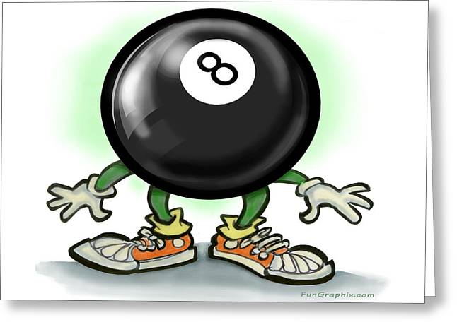 Eightball Greeting Card by Kevin Middleton