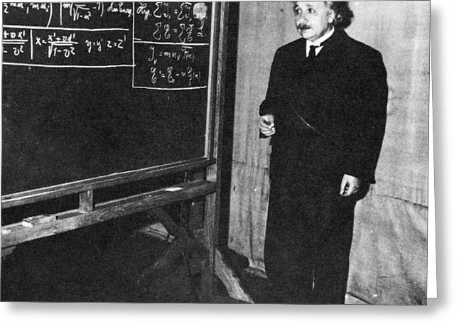Einstein At Princeton University Greeting Card by Science Source
