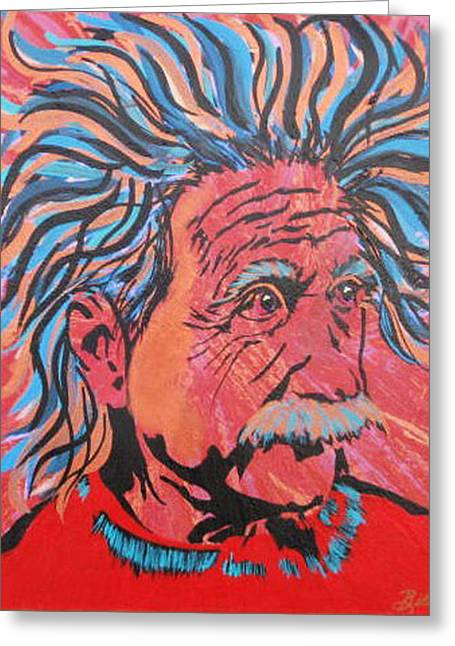 Einstein-in The Moment Greeting Card by Bill Manson