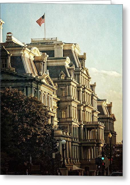 The Trees Greeting Cards - Eisenhower Executive Office Building Greeting Card by Greg and Chrystal Mimbs