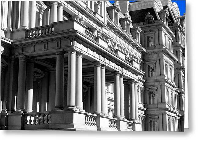Eisenhower Executive Office Building Greeting Card by Valentino Visentini
