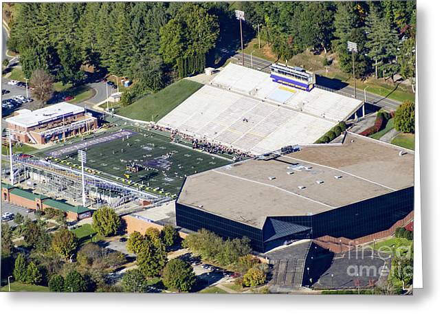 E.j. Whitmire Stadium And Ramsey Center At Wcu Greeting Card by David Oppenheimer