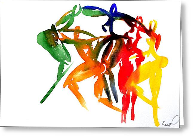 Embrace Greeting Cards - El Abrazo 5 Greeting Card by Jorge Berlato