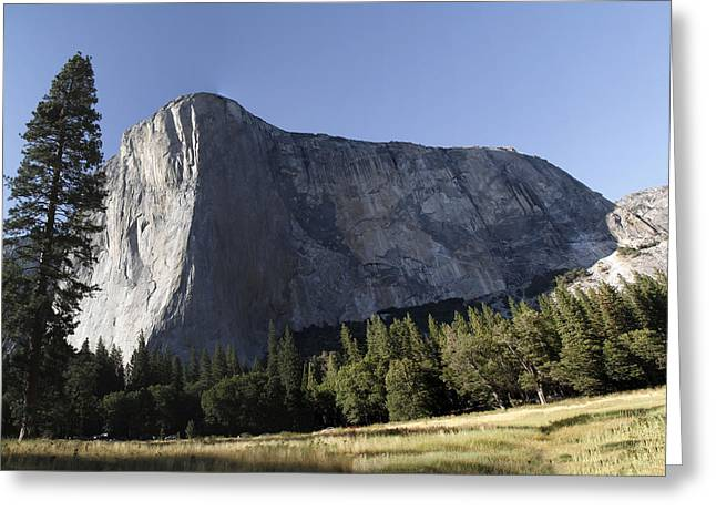 Yosimite Greeting Cards - El Capitan Mountain Greeting Card by Murali Aithal