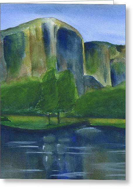 El Capitan Watercolor 2 Greeting Card by Frank Bright