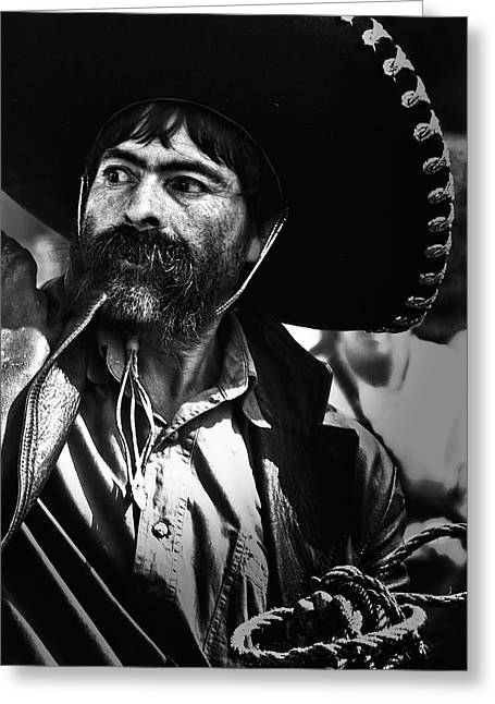 Charro Hat Greeting Cards - El Charro Greeting Card by David Resnikoff